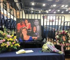 A memorial for Monica Quan at Titan Gym (via @AbbeyMastracco) h/t Yahoo's The Dagger.