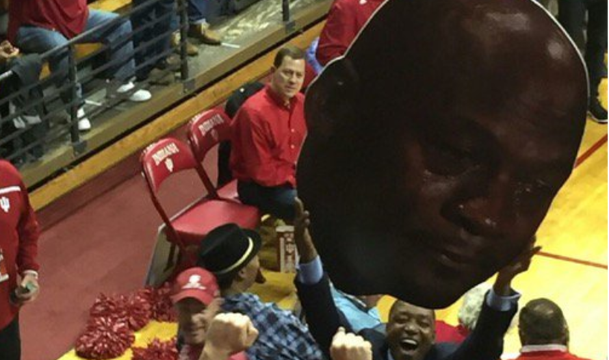 Photo Isiah Thomas Holds Crying Jordan After Indiana Win College Basketball Nbc Sports