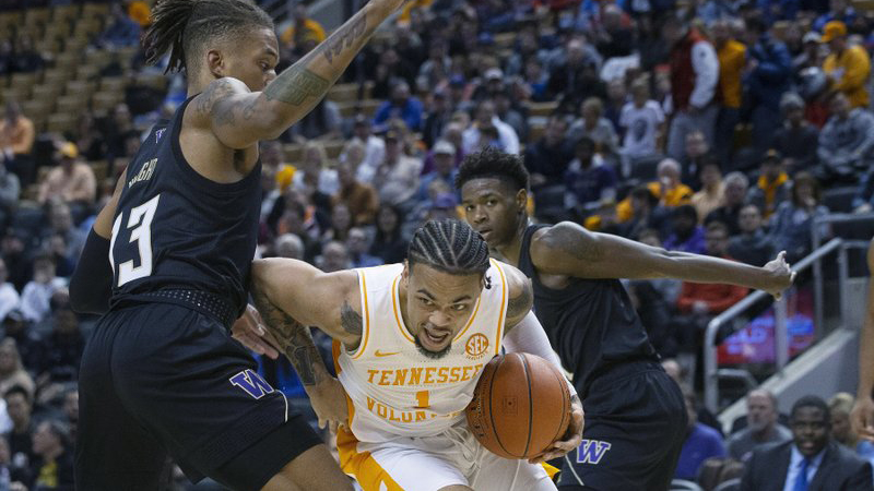 Bowden scores 18 as Tennessee upsets No. 20 Washington 75 ...